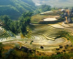 Happiness Holiday, Vietnam, Asia, Sapa mountains aerial view