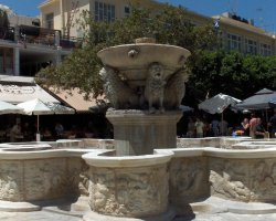 Heraklion, Greece, Lion Square Fountain