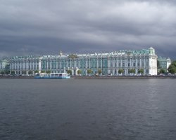 Hermitage Museum, St Petersburg, Russia, View from the river