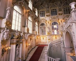 Hermitage Museum, St Petersburg, Russia, Interior staris at entrance
