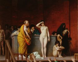 Hermitage Museum, St Petersburg, Russia, The Slave Market in Rome by Jean Leon Gerome