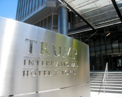 Highest Hotels, Trump International Hotel and Tower, Chicago, Entrance Sign