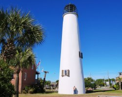 Hiking Summer Destination, Island Saint George, Florida, Lighthouse