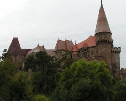 Hunyad Castle, Romania, View from outside