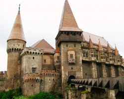 Unusual Holiday, Hunedoara, Romania, Hunyad Castle outside view