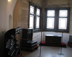 Unusual Holiday, Hunedoara, Romania, Hunyad Castle interior exhibition