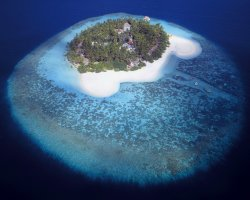 January Destinations, Maldives, Asia, Luxury island aerial view
