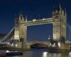 London Attraction Holiday, Tower Bridge, London, United Kingdom, By night