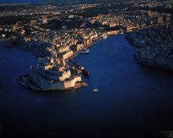Malta, Europe, Malta Harbour aerial view