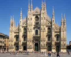 Milan, Italy, The Duomo Cathedral entrance