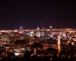 Montreal, Canada, City view by night