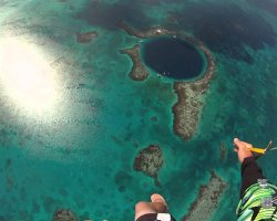 Dangerous Natural Pool Holiday, Deans Blue Abyss, Bahamas, Skydiving