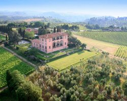 Paradise Destination, Italy, Chianti winery view from above