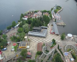 Sarkanniemi Park, Tampere, Finland, View from the tower