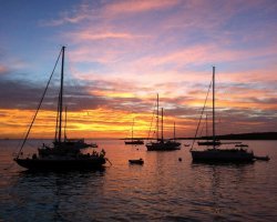 Secret Destination Holiday, Spain, Formentera Boats at dawn