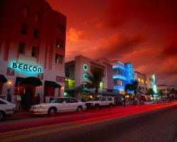 Superb Holiday, Miami, Florida, USA, Night streetview