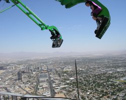 Top Rotating Restaurants, Stratosphere, Las Vegas, USA, Top Coaster view