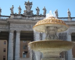 Vatican City, Europe, Central piazza fountain