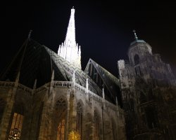 Vienna, Austria, St. Stephan Cathedral at night