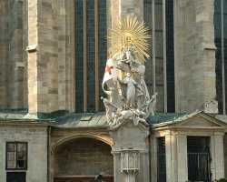 Vienna, Austria, St. Stephan Cathedral outside statue