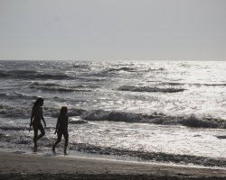 Romantic Wild Beaches Holiday, Vadu, Romania, Waves and tourists