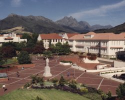 Stellenbosch, South Africa, University Campus overview