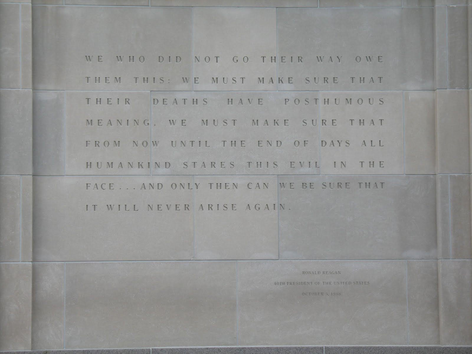 Holocaust Museum Washington DC Quotes