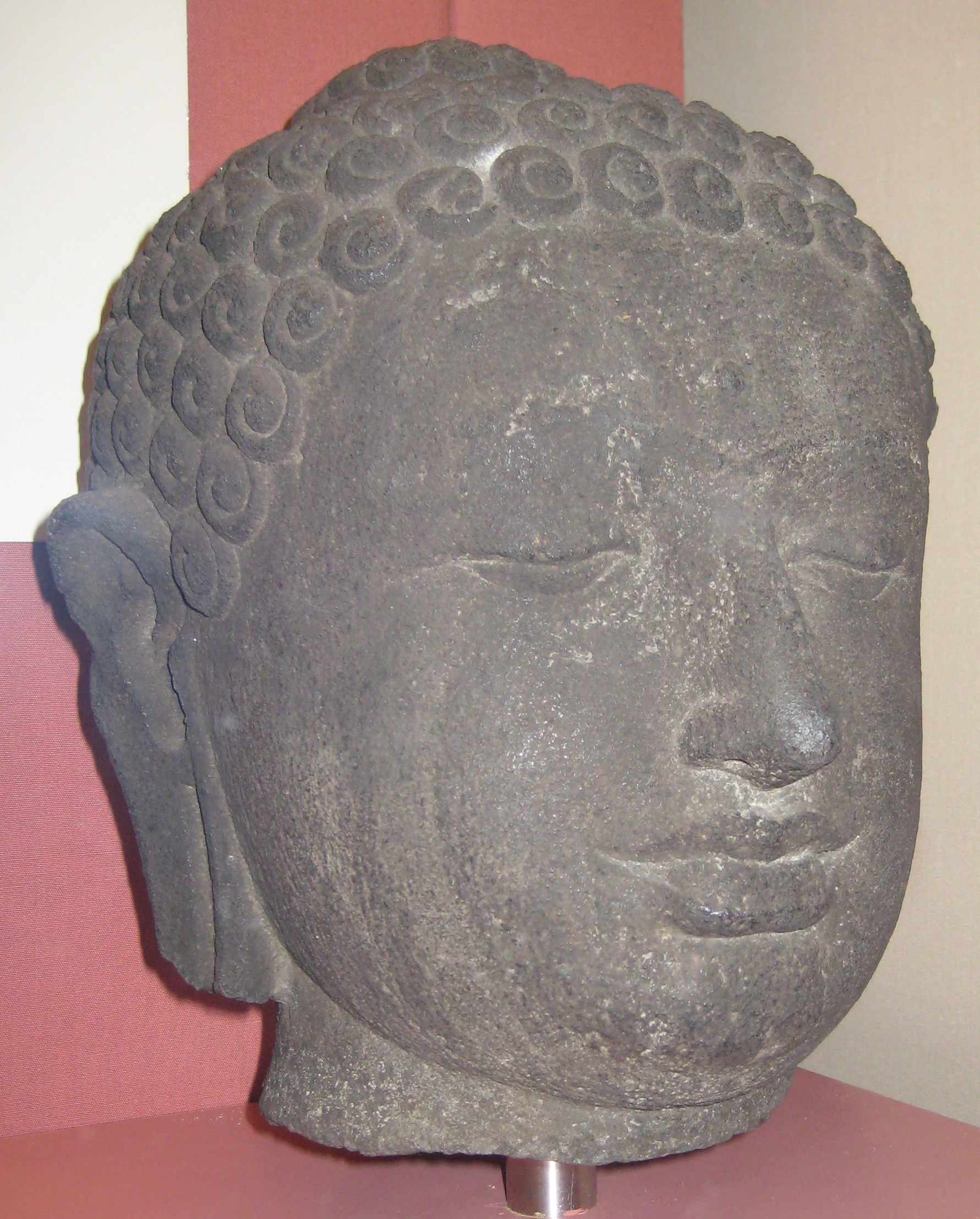 British Museum, London, England, Borobudur Buddha head