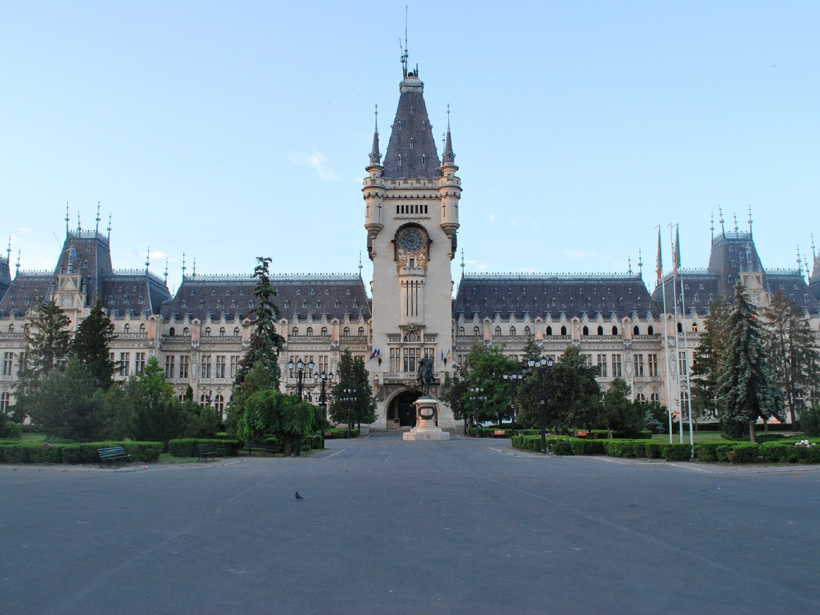 Iasi architecture, Romania, Palace of Culture frontal view