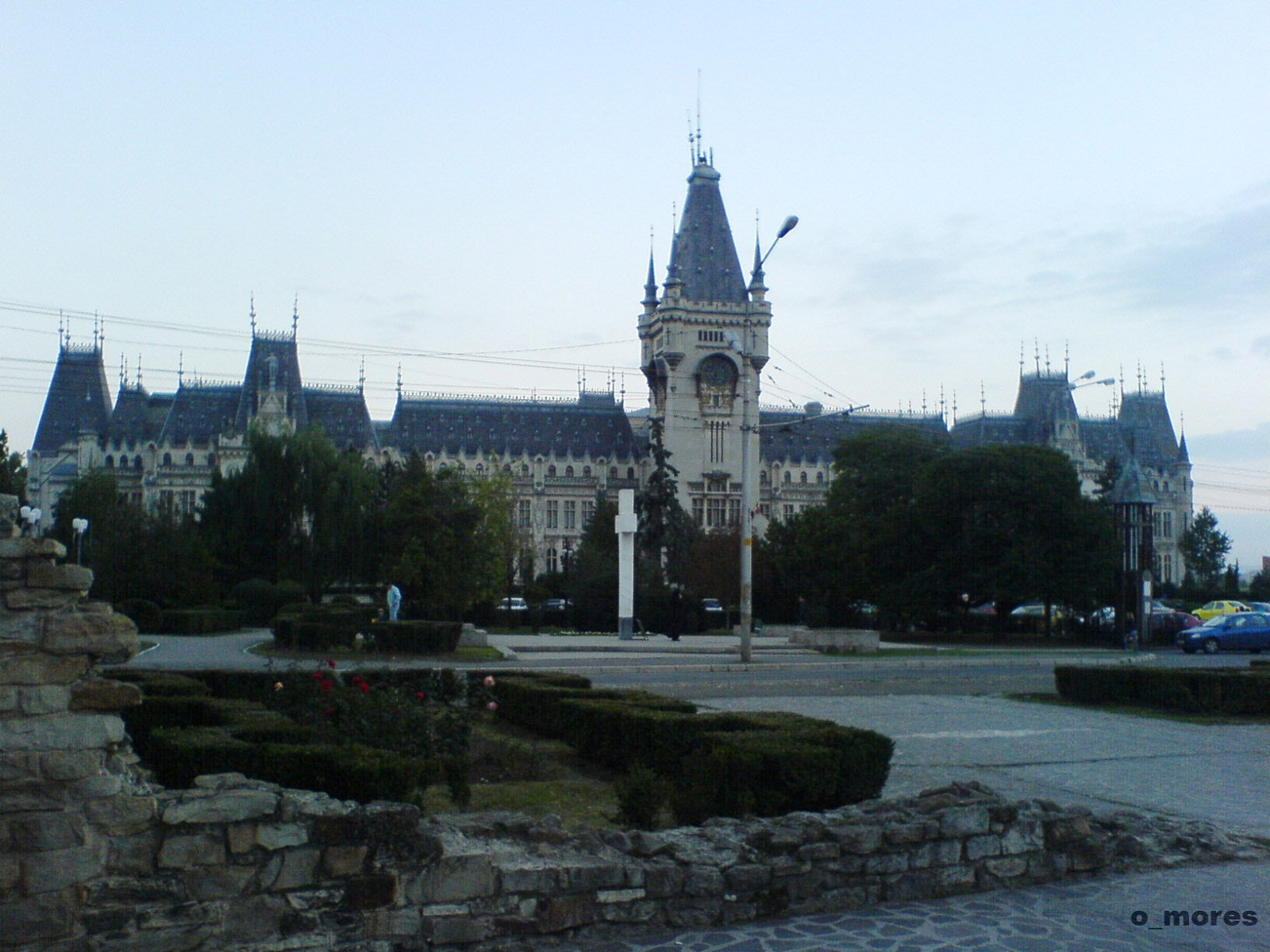 Iasi architecture, Romania, Palace of Culture far view