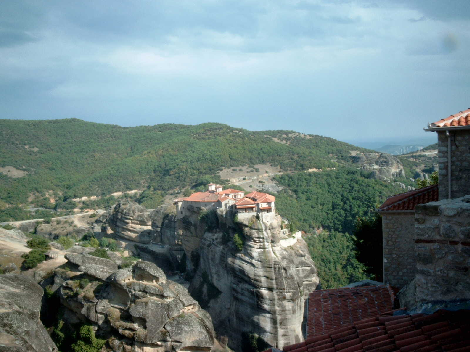Meteora, Greece, Varlaam Monastery overlooking
