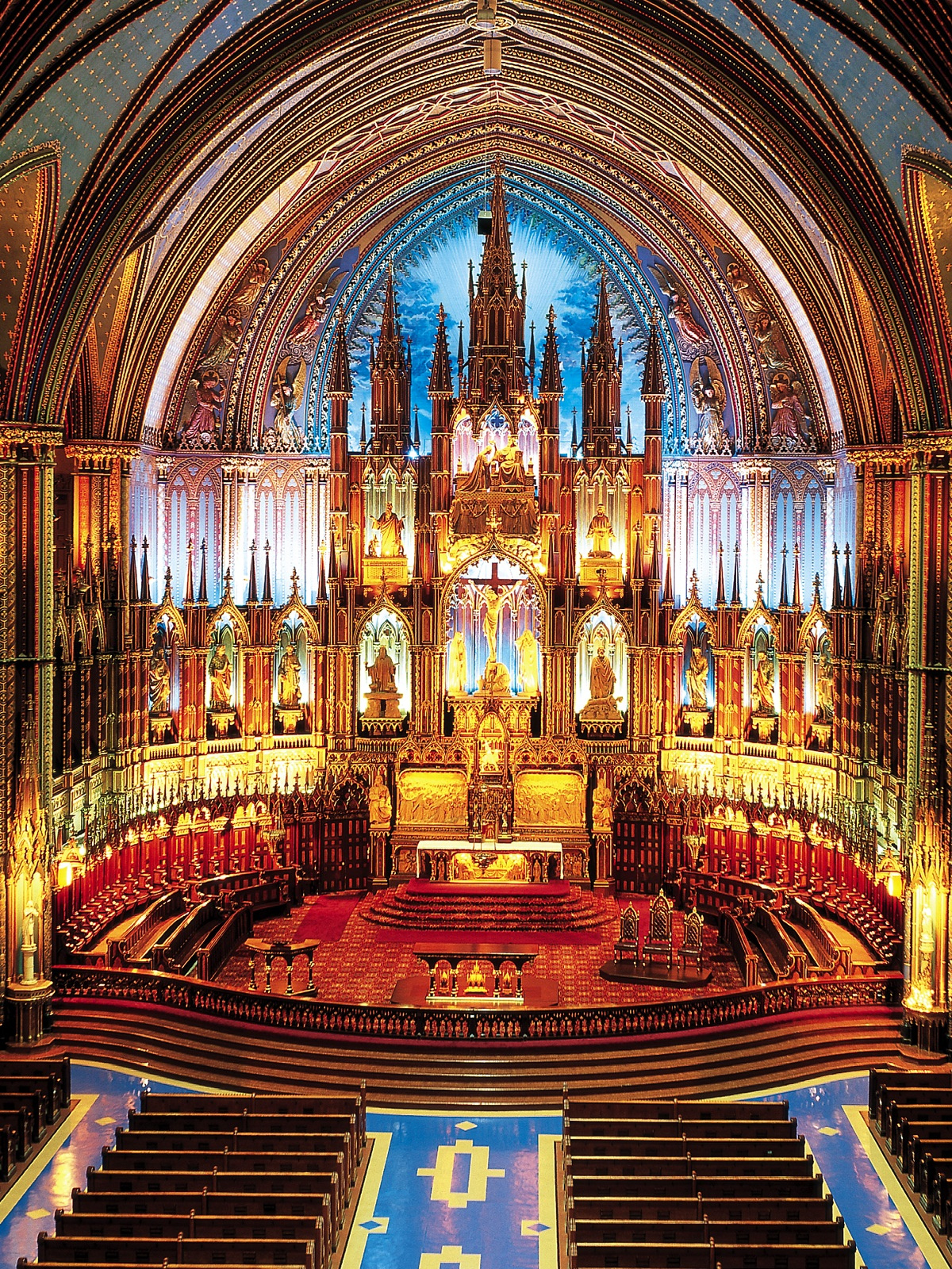 Notre Dame Basilica, Montreal, Canada, View from the balcony