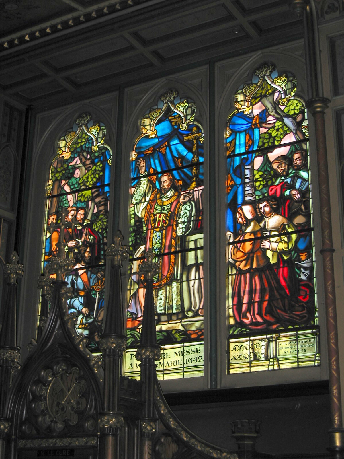 Notre Dame Basilica, Montreal, Canada, Stained glass windows