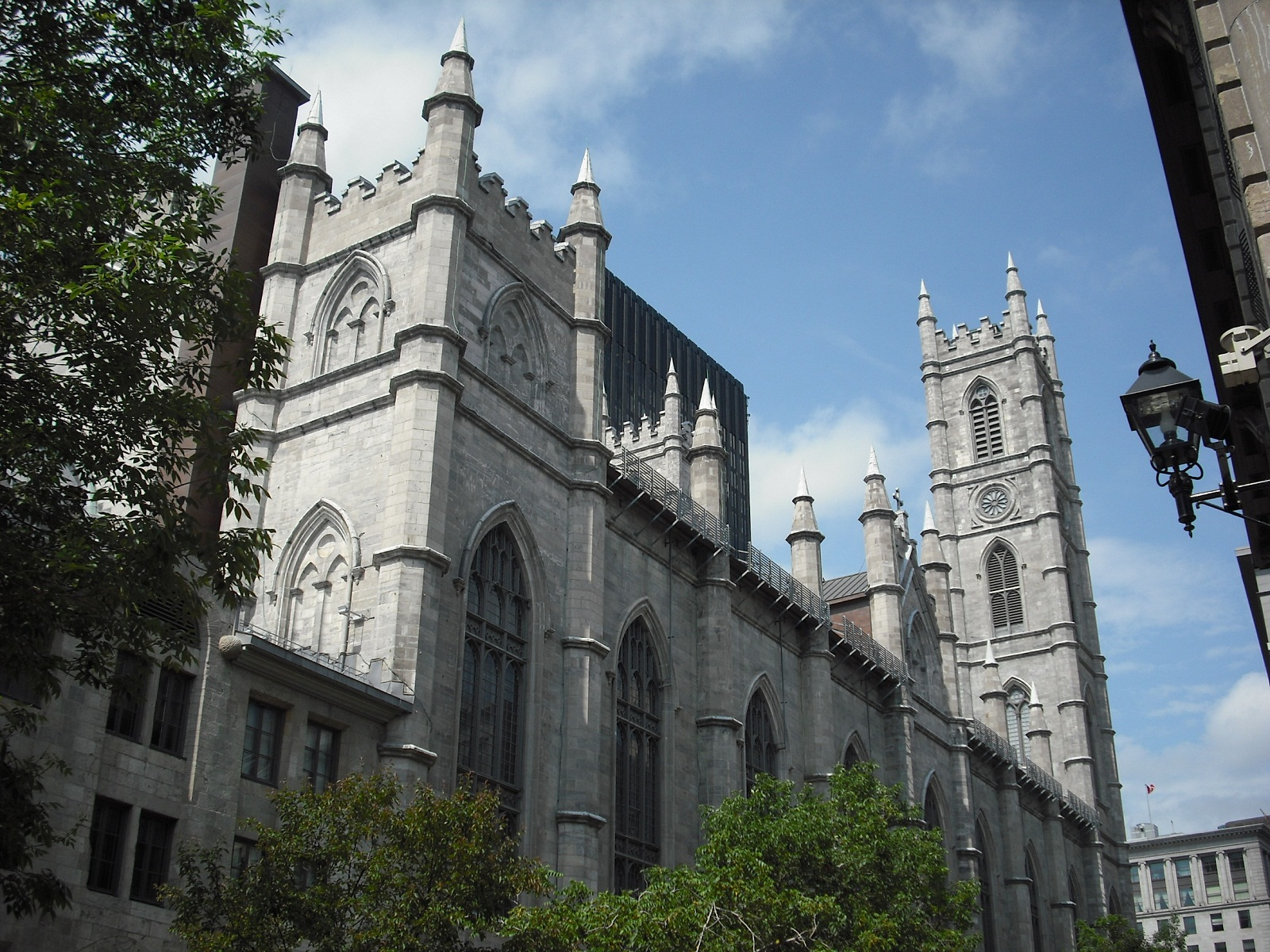 Notre Dame Basilica, Montreal, Canada, Side view