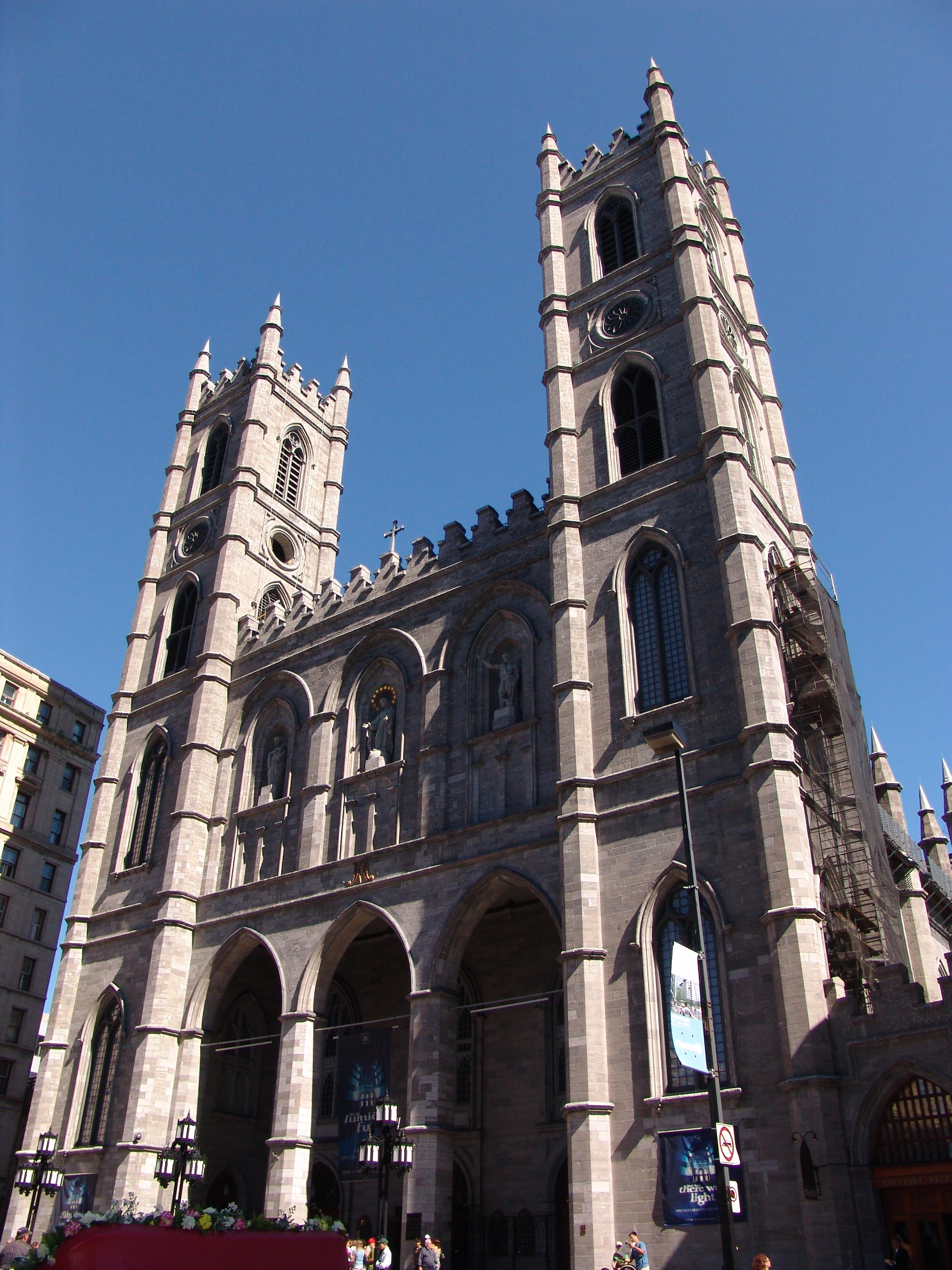 Notre Dame Basilica, Montreal, Canada, Outside view