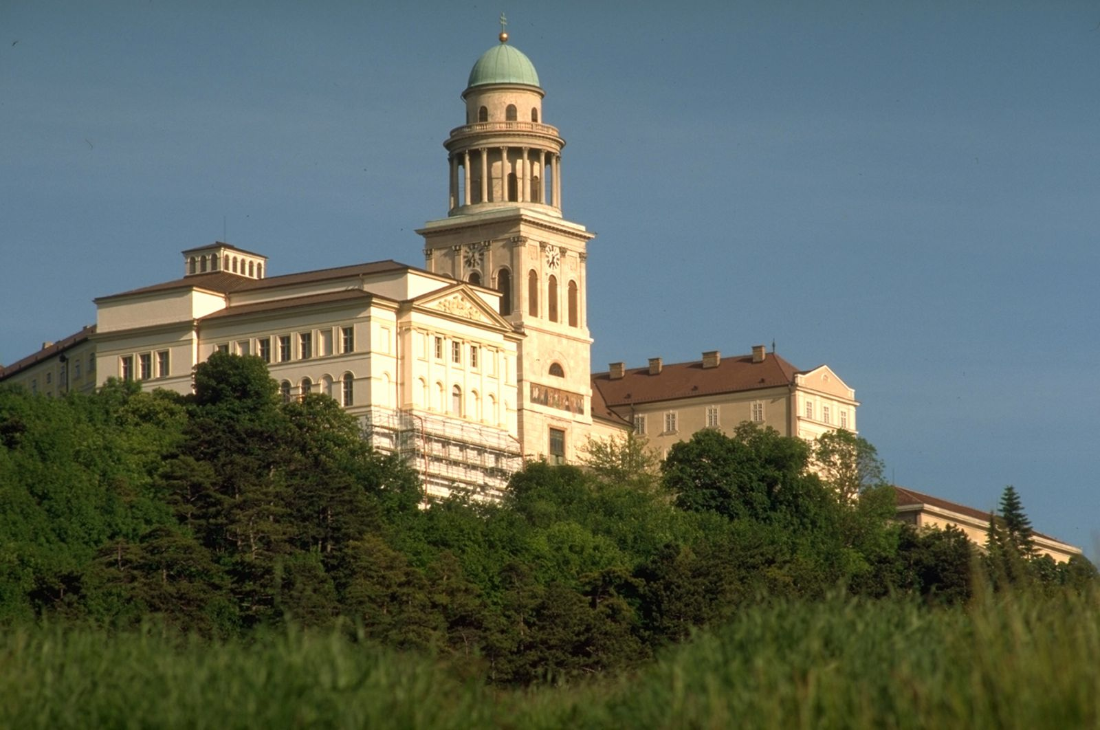 Pannonhalma Archabbey, Hungary, Europe, Side close view