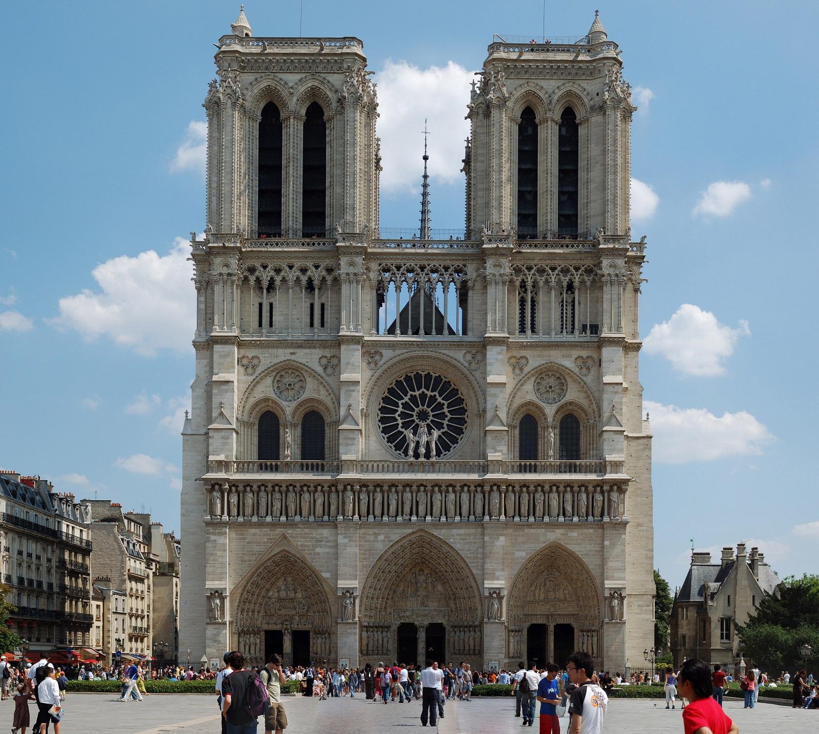 Paris Architecture France Notre Dame De Paris Front View