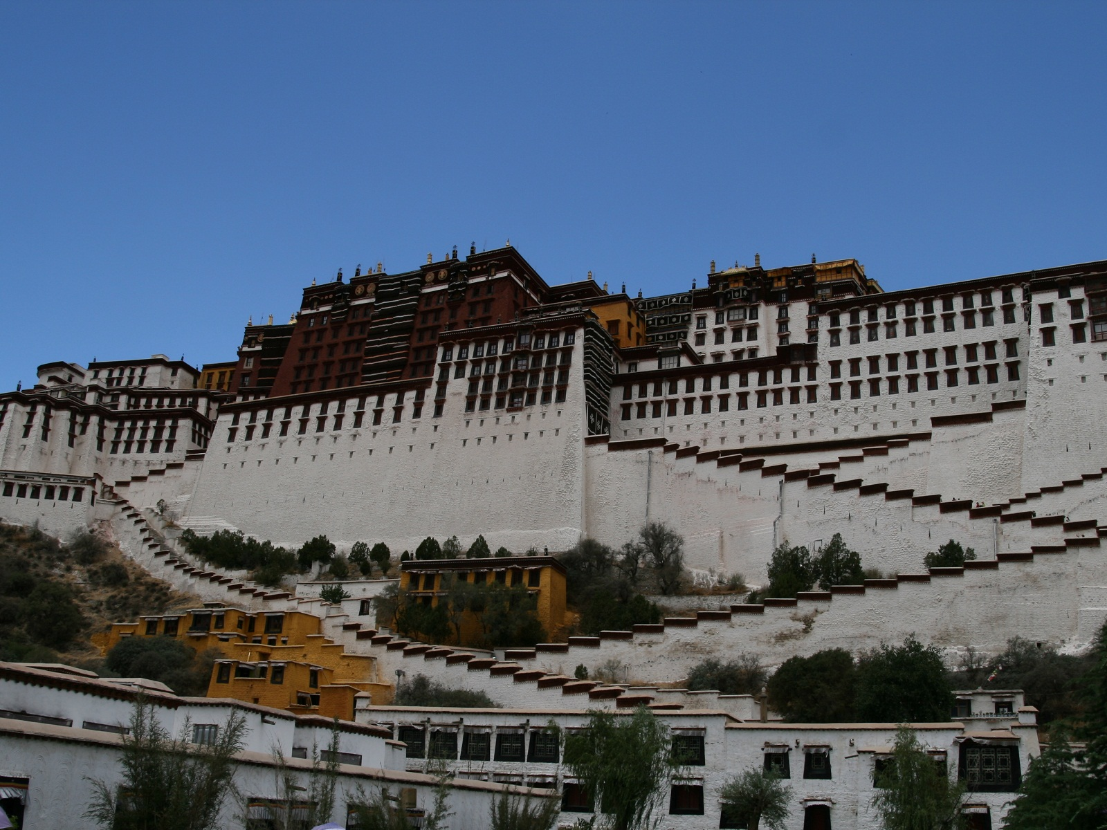 Potala Palace, Tibet, China, Stairs overview