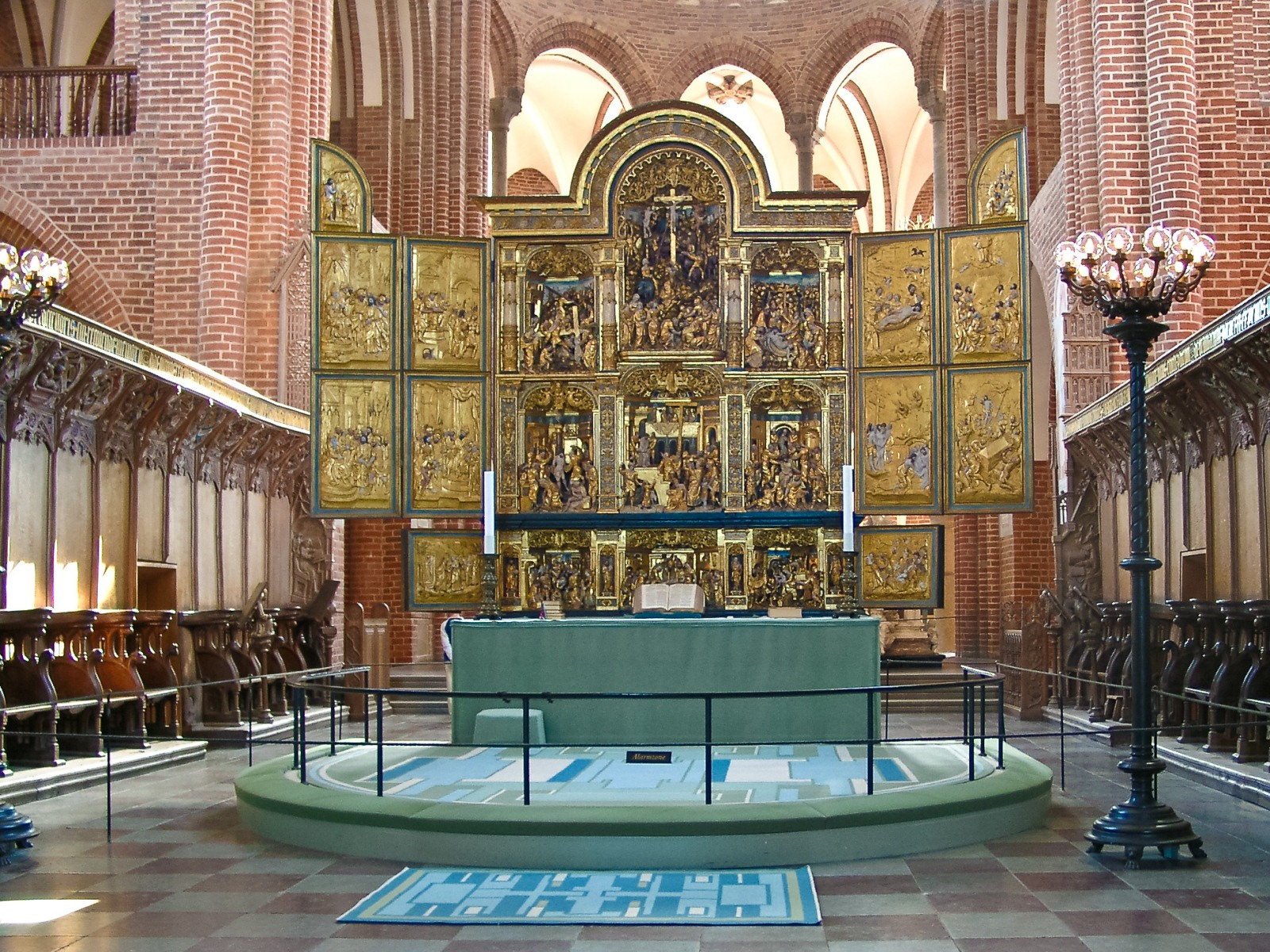 Roskilde Cathedral, Denmark, Europe, Iconostasis main hall