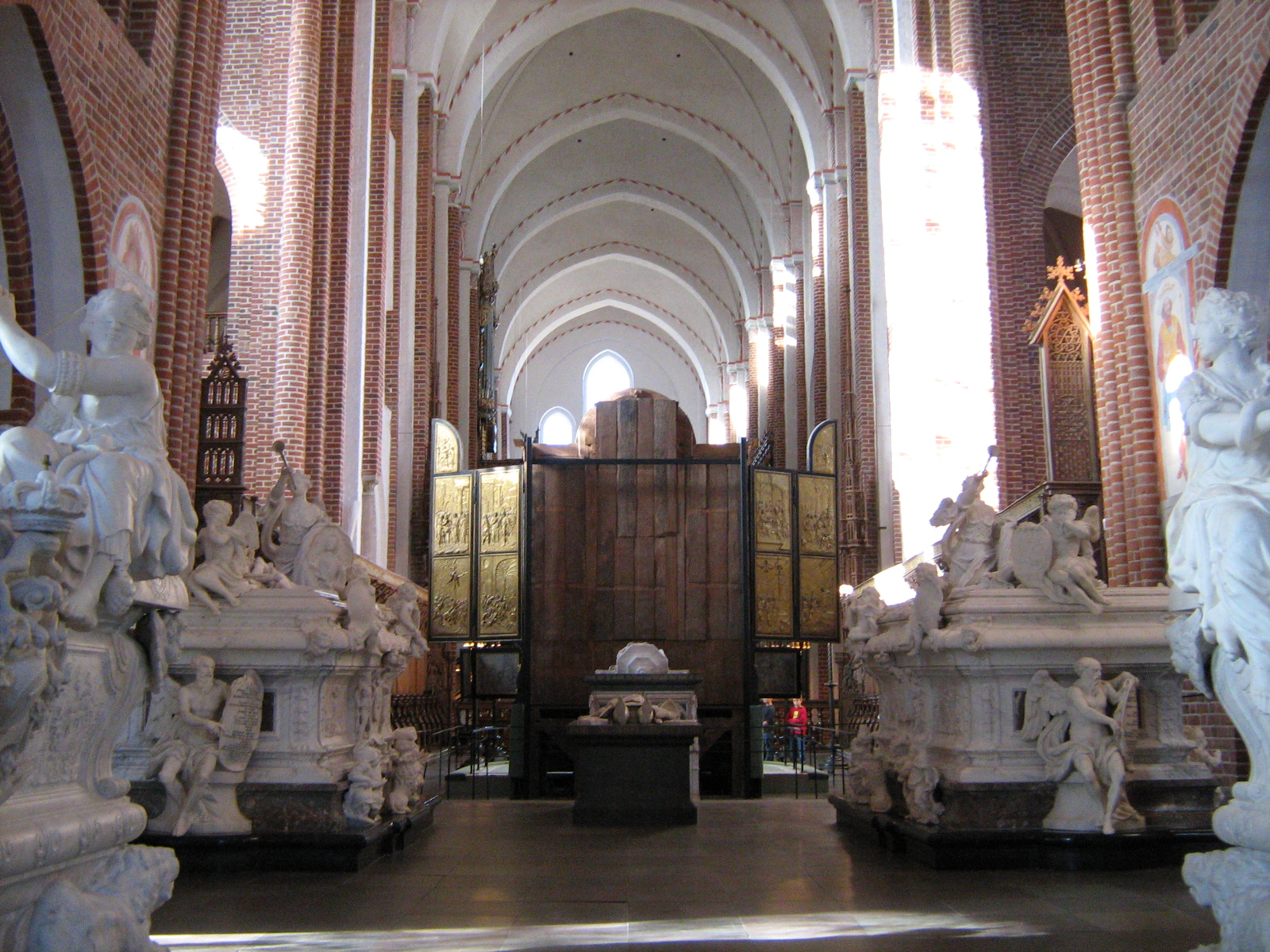 Roskilde Cathedral, Denmark, Europe, Interior view