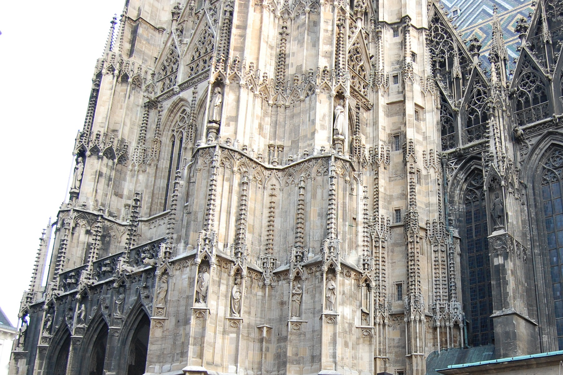 St Stephan Cathedral, Vienna, Austria, Side facade architecture detail
