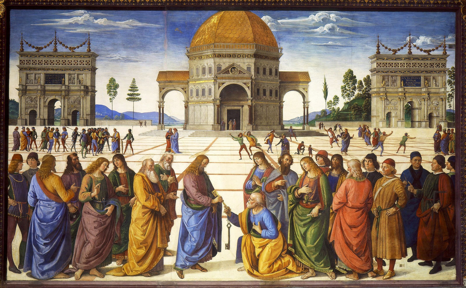Sistine Chapel, Vatican, Pietro Perugino fresco, Delivery of the Keys