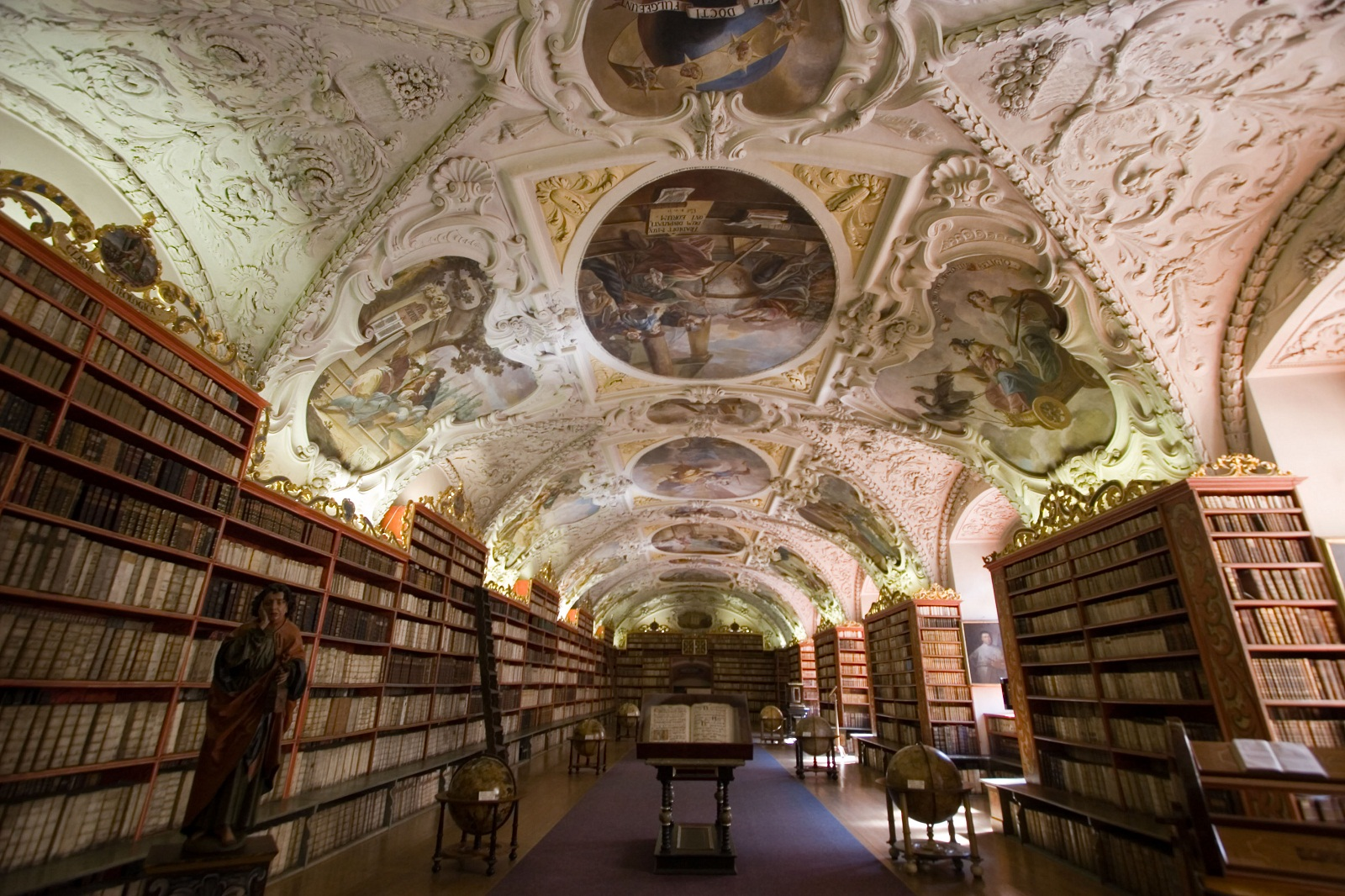 Strahov Monastery, Prague, Czech Republic, Library roof paintings