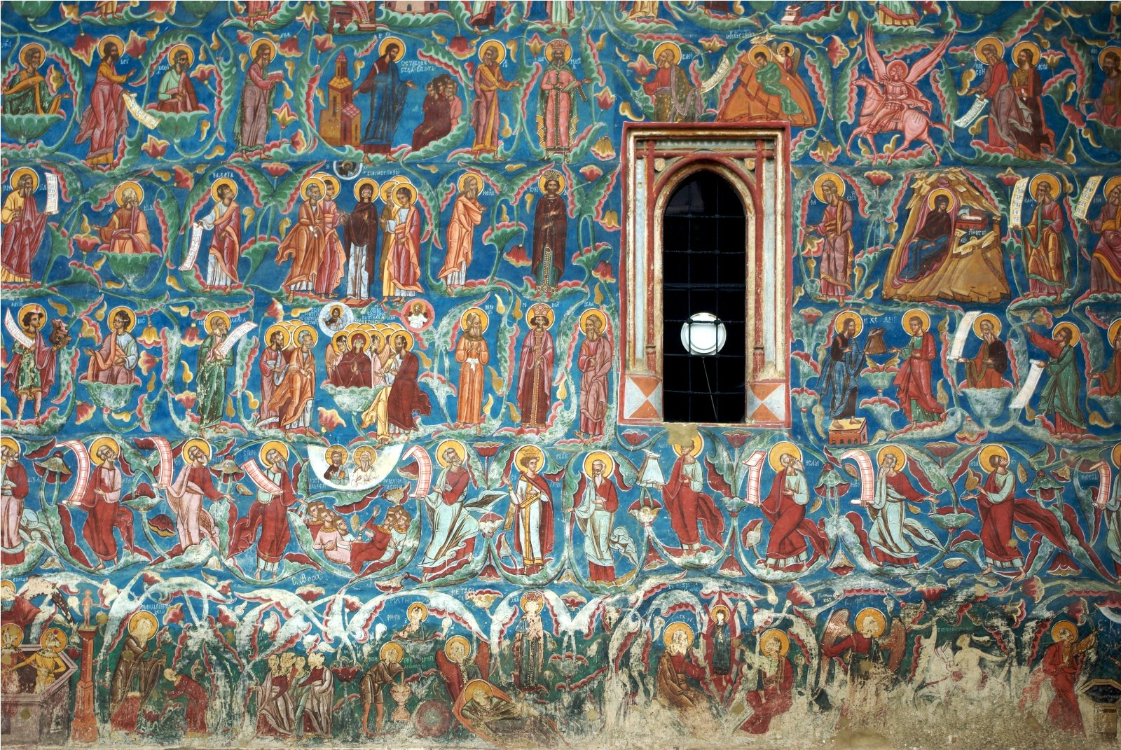 Sucevita Monastery, Romania, Outside wall paintings