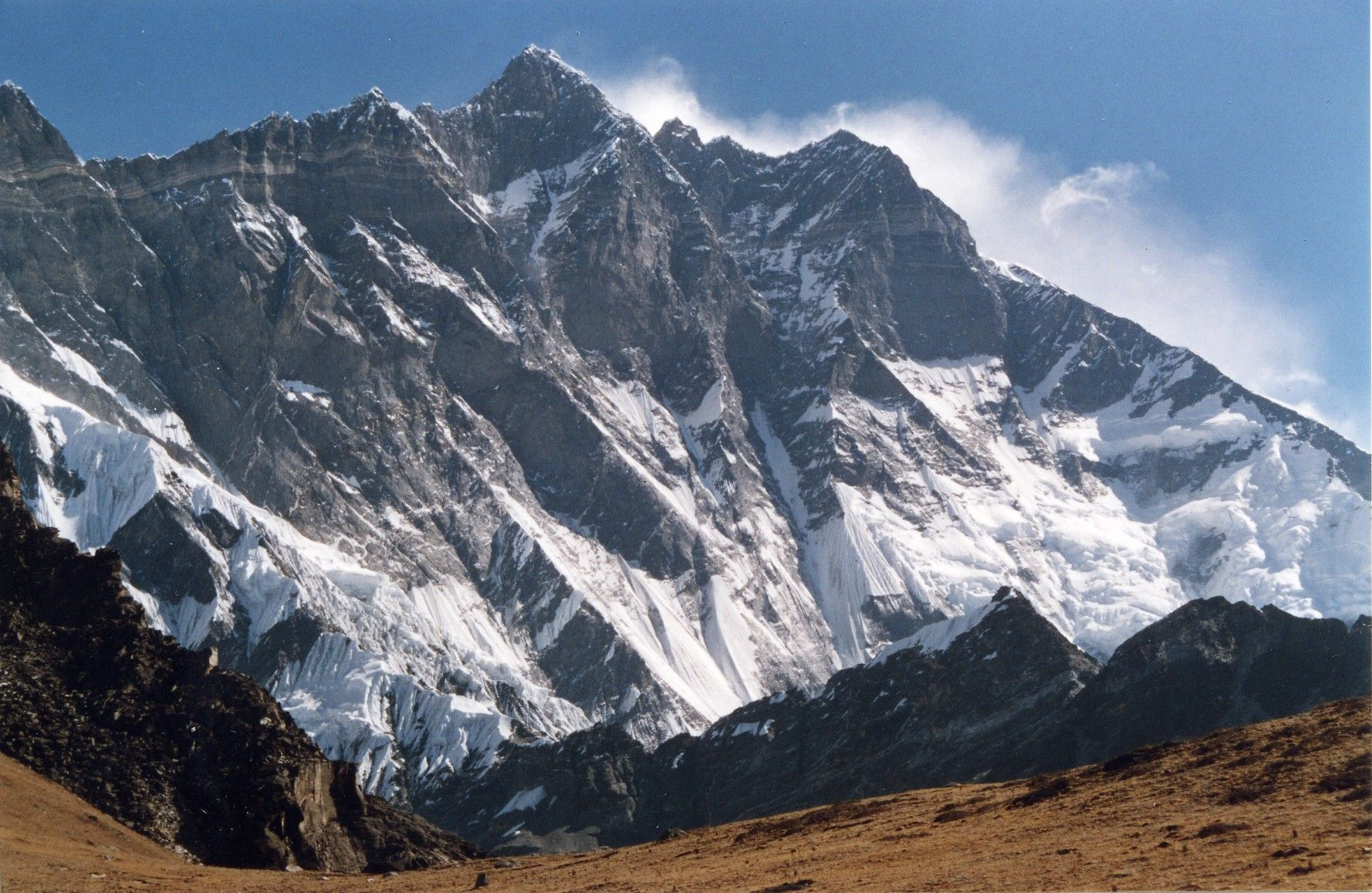 Tallest Mountains, Mount Everest, Lhotse, View from Chukhung Ri