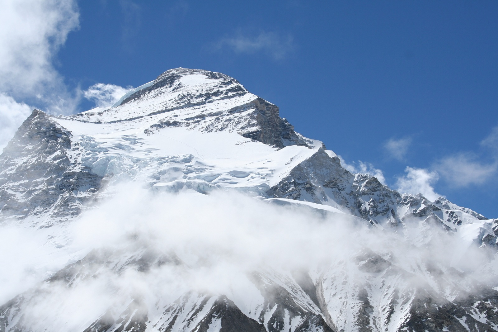 Tallest Mountains, Cho Oyu, Himalayas, Cloudy peak