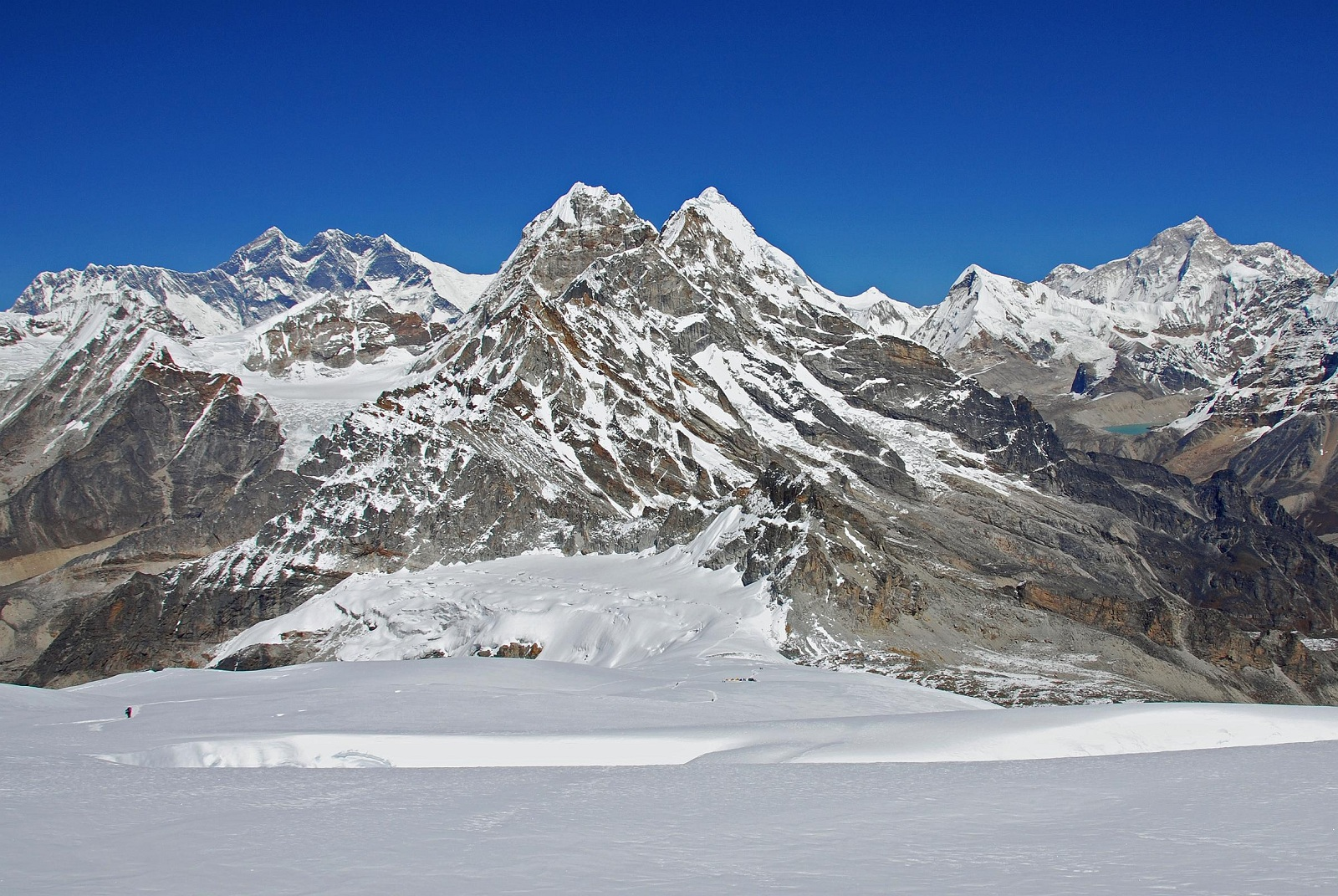 Tallest Mountains, Makalu West Face, Everest, View from Mera High Camp
