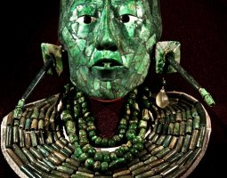 National Museum of Anthropology, Mexico City, The Malachite King head