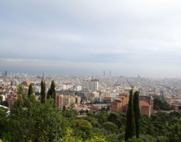 Barcelona Architecture, Spain, Panoramic view to the city