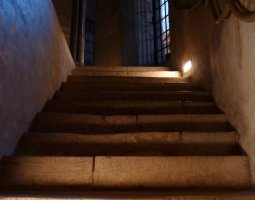 Basilique Saint Sernin, Toulouse, France, Interior stairs